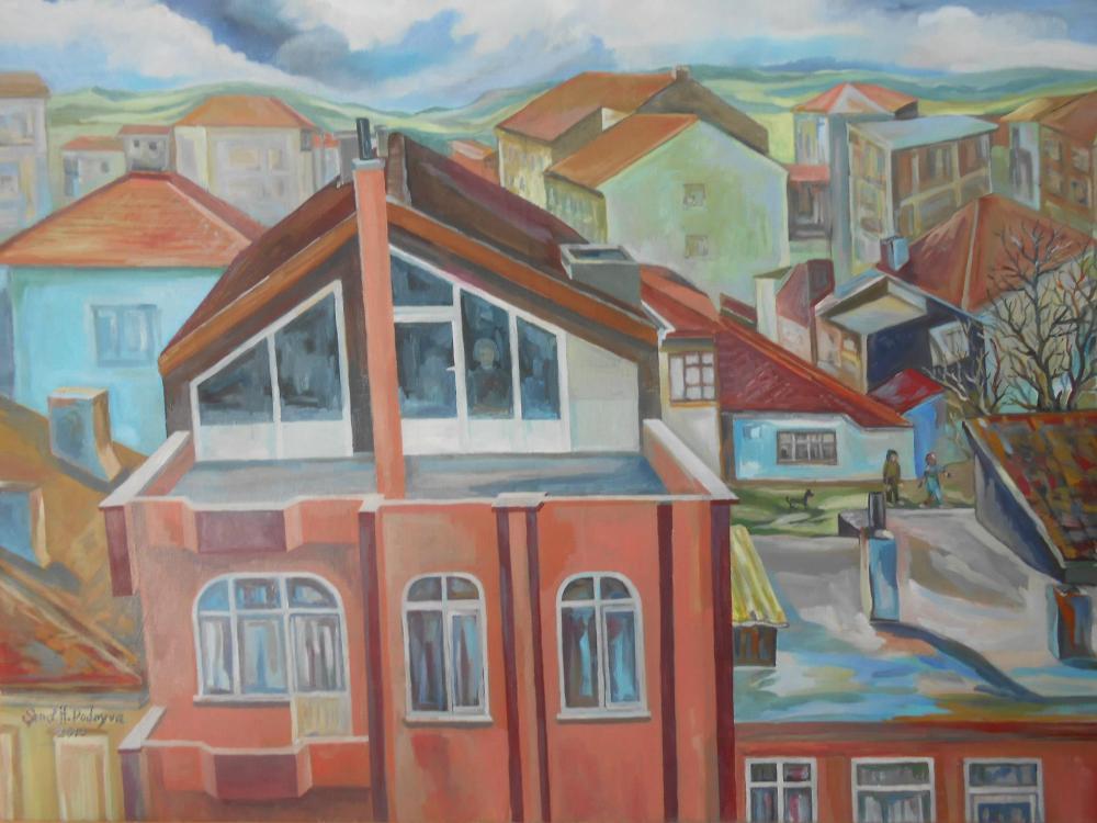 Old Neighborhood, Original Paintings, , kanvas tablo, canvas print sales