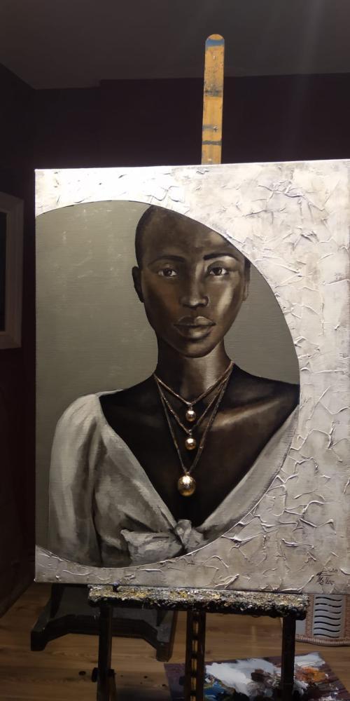 Siyahi Kadın 2, Orijinal Tablolar, , kanvas tablo, canvas print sales