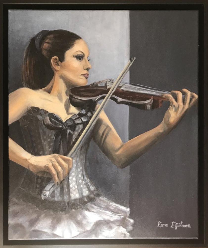 Kemancı Kız, Orijinal Tablolar, , kanvas tablo, canvas print sales