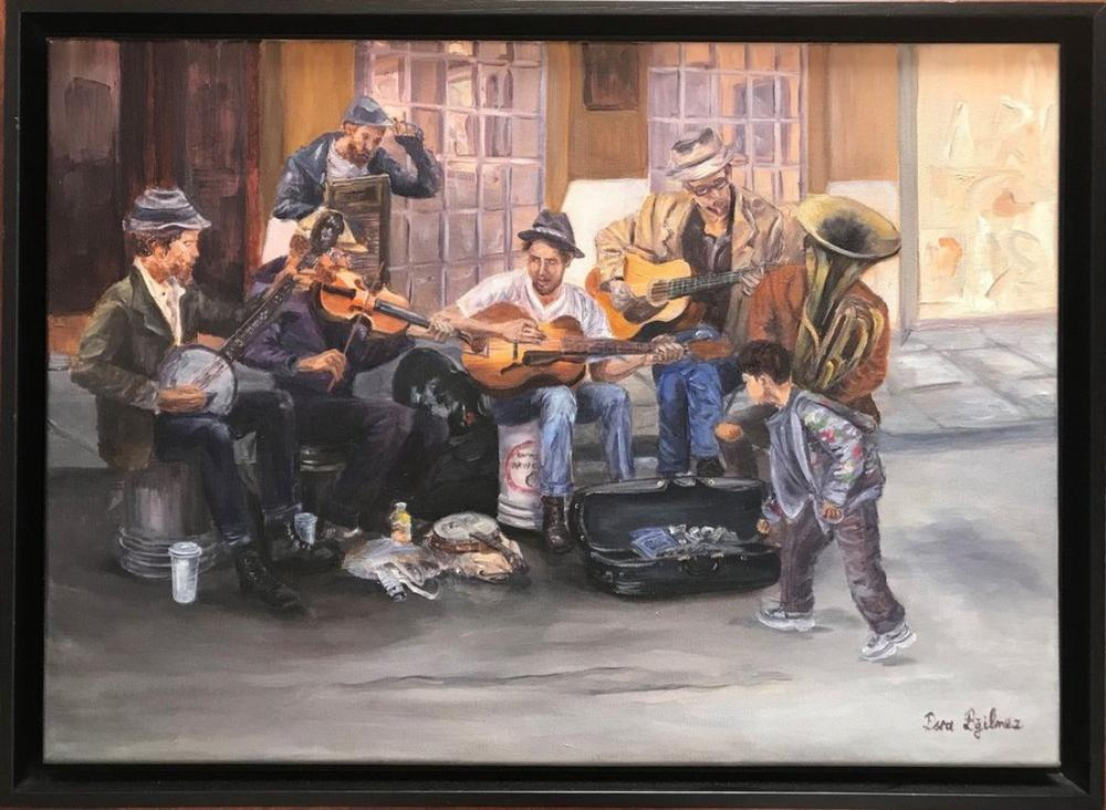 Street Musicians 1, Original Paintings, , kanvas tablo, canvas print sales
