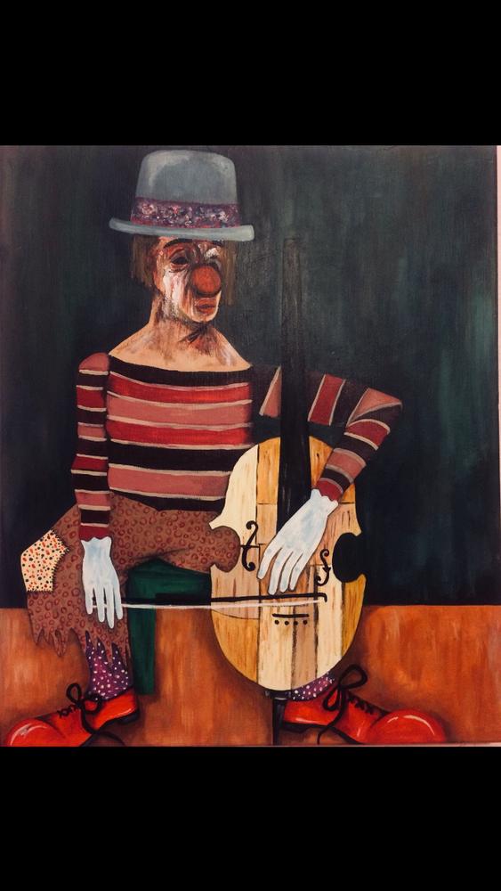 Crying Clown, Original Paintings, , kanvas tablo, canvas print sales