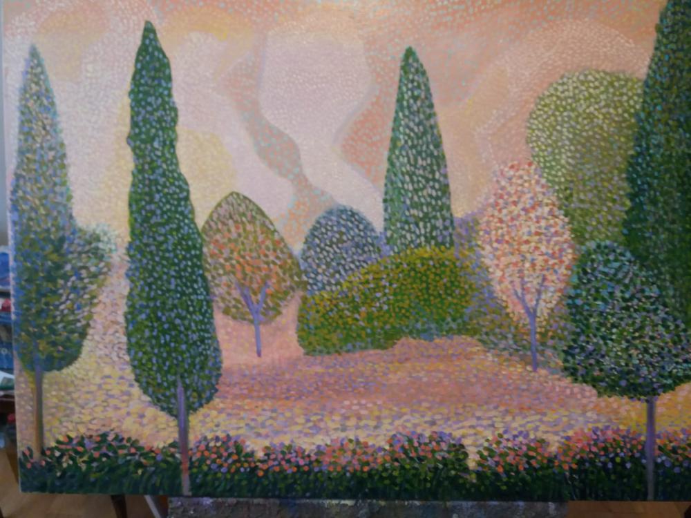 Trees in Spring, Original Paintings, Fatih Sarmanlı