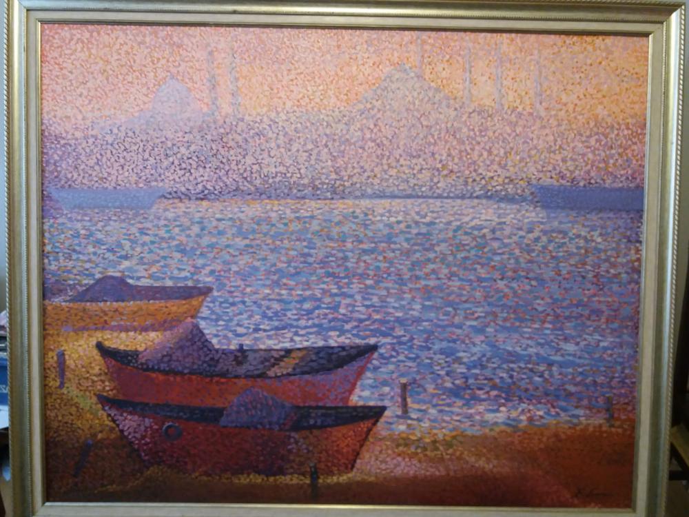 Bosphorus Boats, Original Paintings, Fatih Sarmanlı, kanvas tablo, canvas print sales