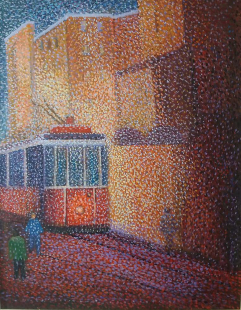 Beyoglu Tramway, Original Paintings, Fatih Sarmanlı
