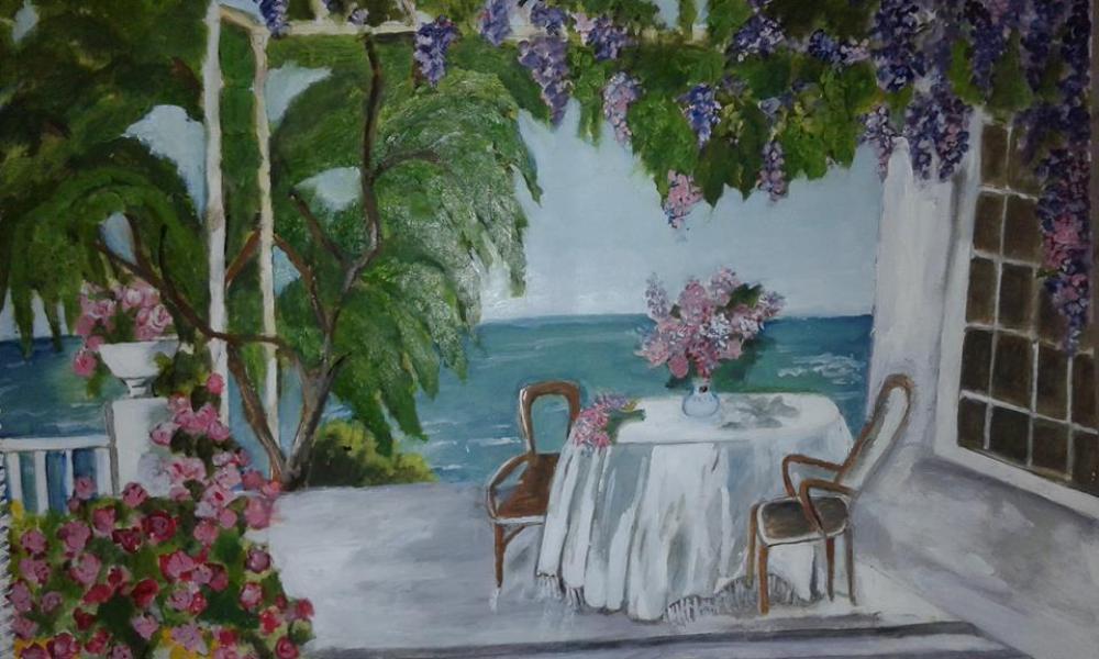 Flower garden, Impressionism, , kanvas tablo, canvas print sales