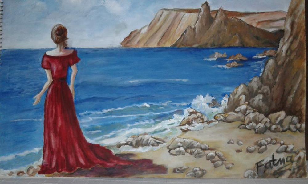 Marine woman, Original Paintings, , kanvas tablo, canvas print sales