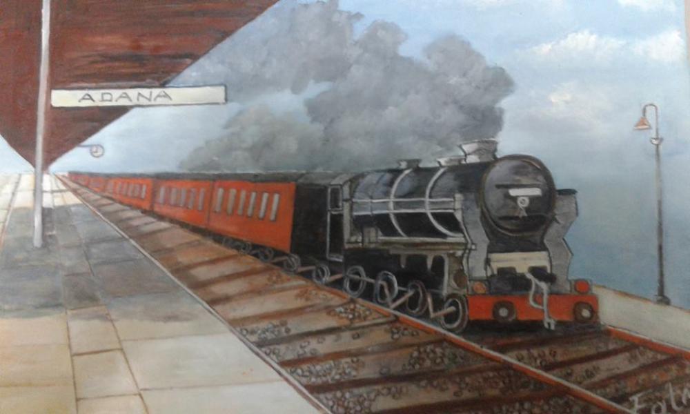 Black Train, Original Paintings, , kanvas tablo, canvas print sales
