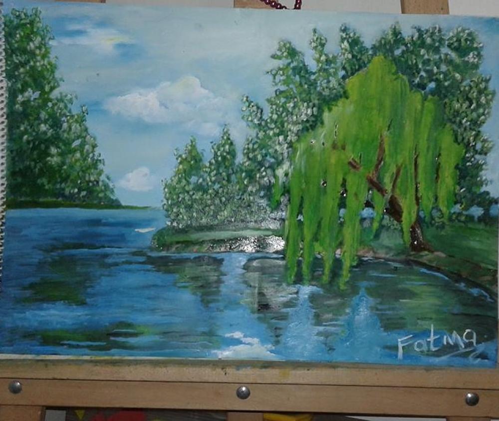 Willow tree, Impressionism, , kanvas tablo, canvas print sales