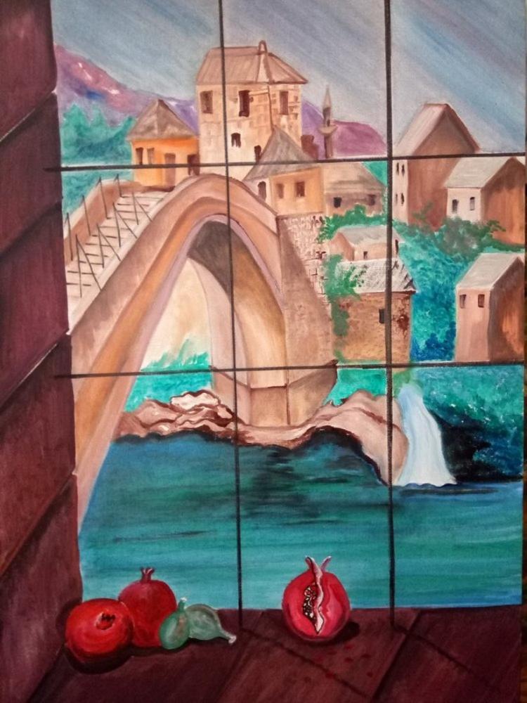 Mostar, Orijinal Tablolar, , kanvas tablo, canvas print sales