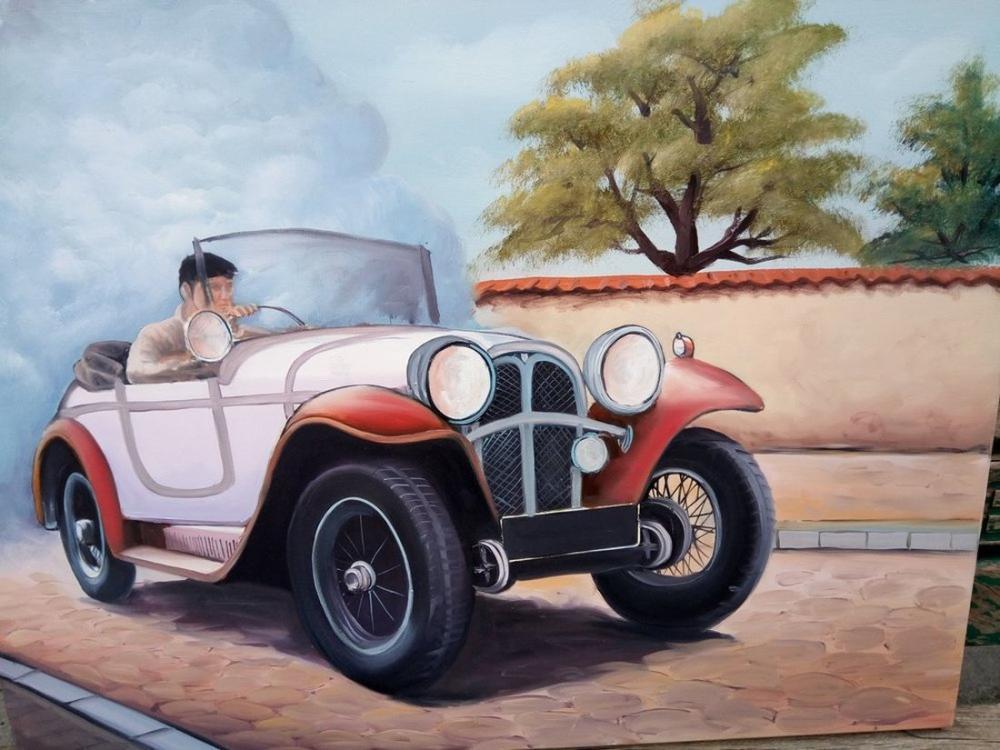 Car loves, Original Paintings, , kanvas tablo, canvas print sales