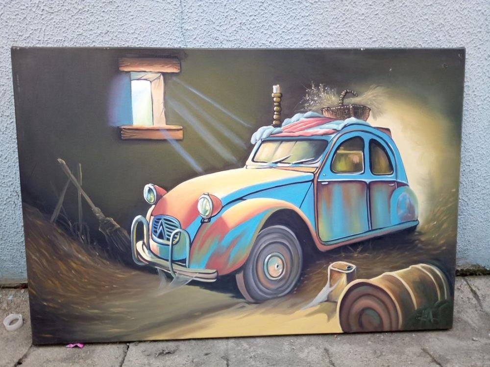 Antique Cars, Original Paintings, , kanvas tablo, canvas print sales