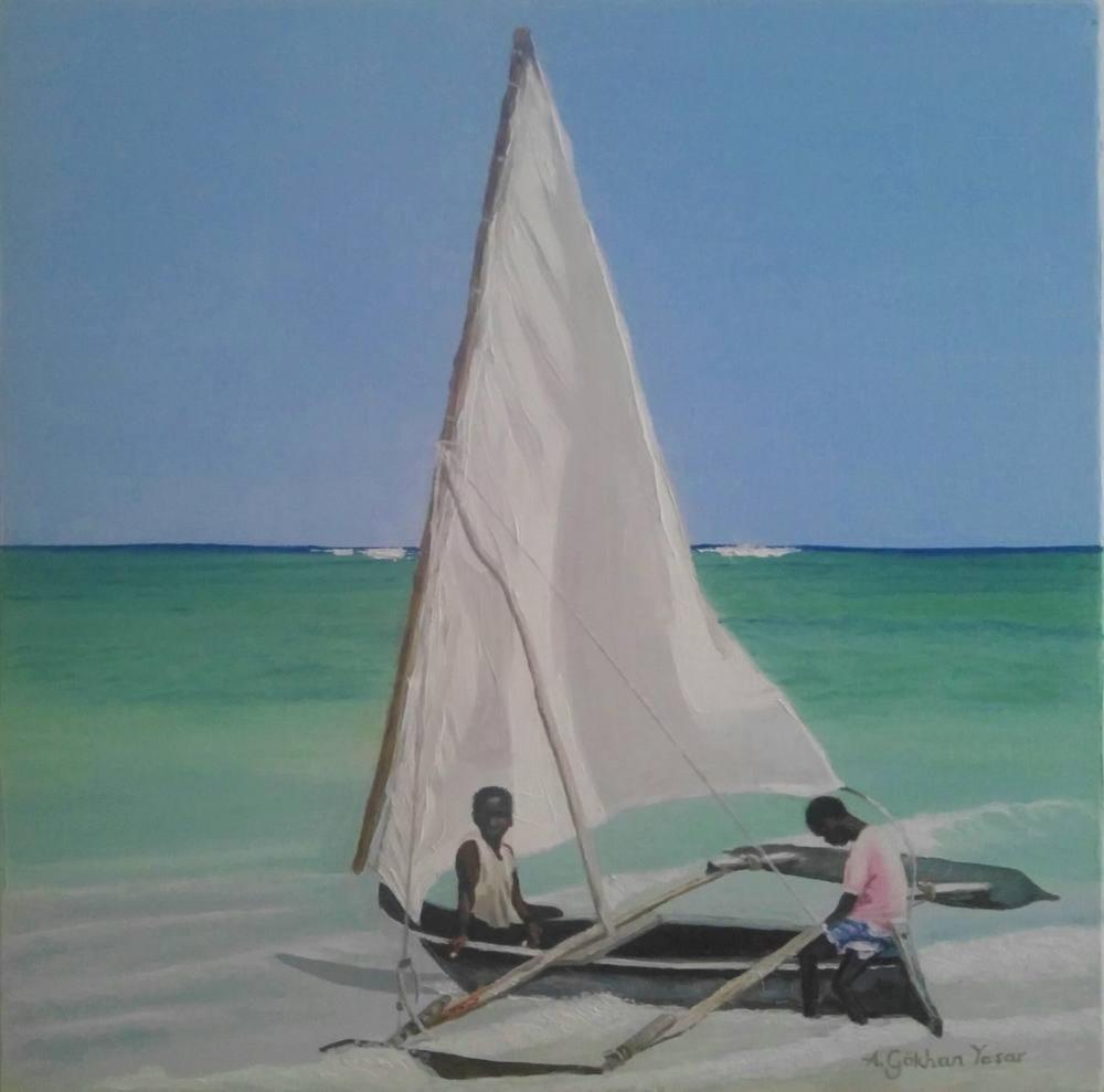 Another Day in Oceania, Original Paintings, Gökhan Yaşar, kanvas tablo, canvas print sales