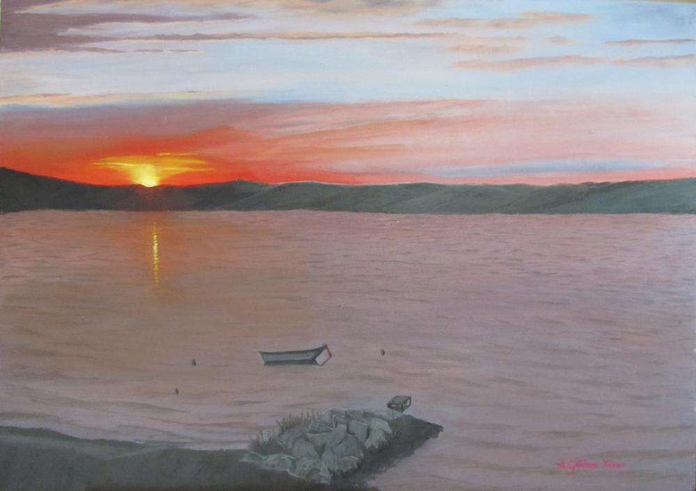 Lapseki, Çanakkale, Original Paintings, Gökhan Yaşar, kanvas tablo, canvas print sales