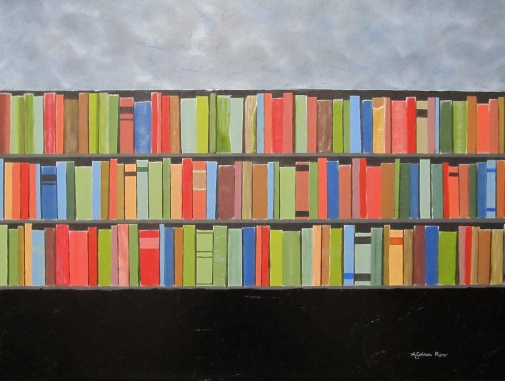 Yaşam İçin Kitap, Orijinal Tablolar, Gökhan Yaşar, kanvas tablo, canvas print sales