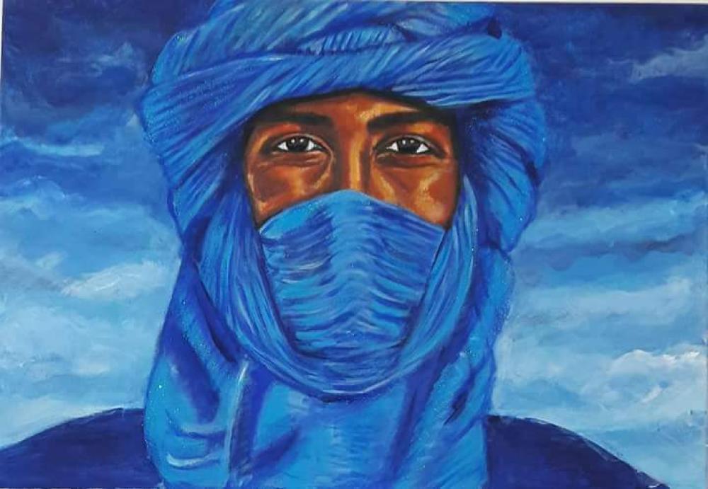 Desert Man, Original Paintings, , kanvas tablo, canvas print sales