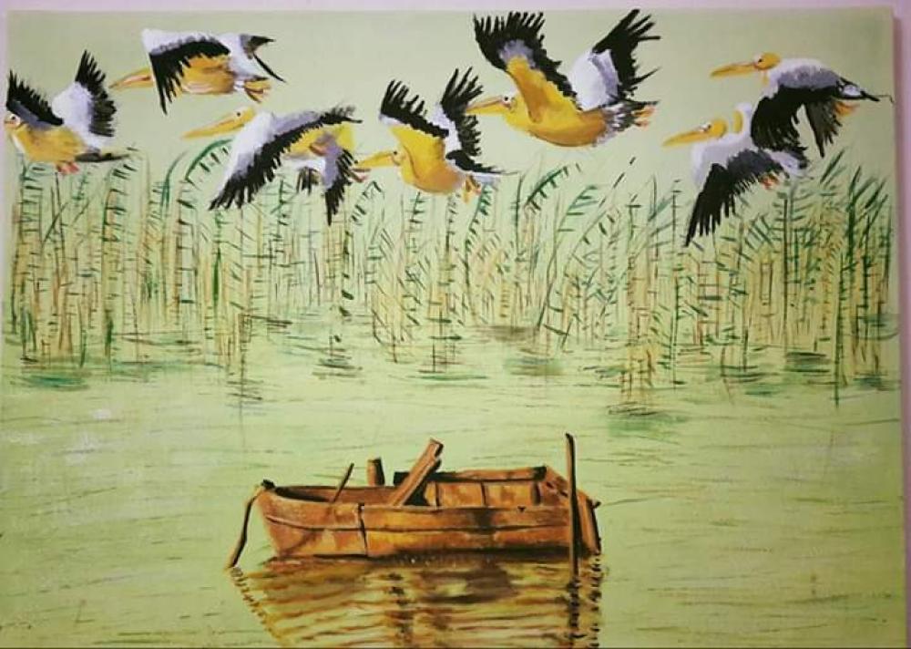 Göçmen kuşlar, Orijinal Tablolar, , kanvas tablo, canvas print sales