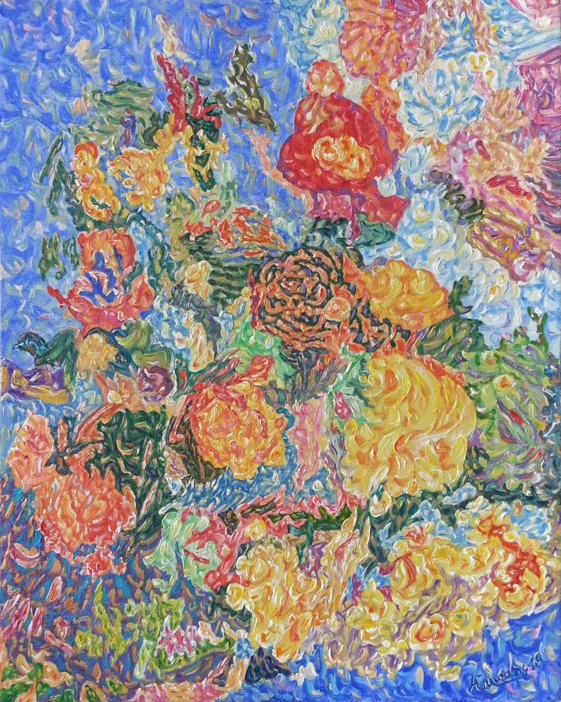 Flowers in the  garden, Orijinal Tablolar, , kanvas tablo, canvas print sales