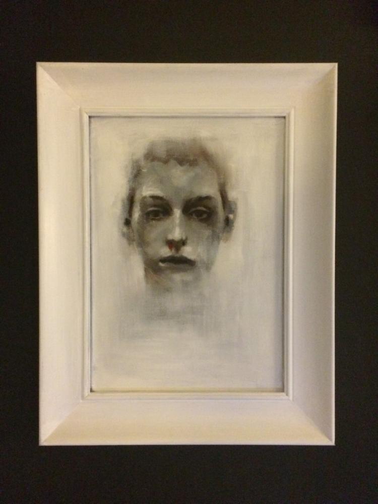 White Portrait, Original Paintings, , kanvas tablo, canvas print sales