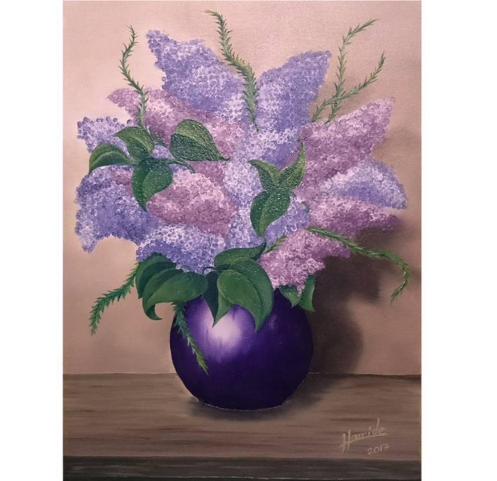 Lilacs, Original Paintings, , HDELİKARA07