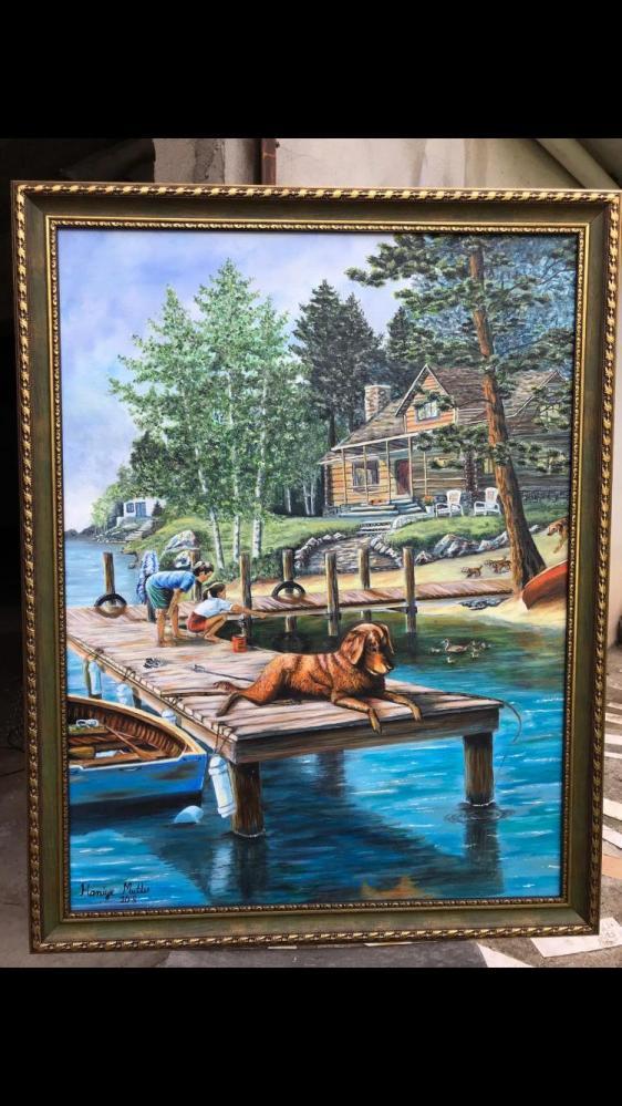 My dream house, Original Paintings, , kanvas tablo, canvas print sales