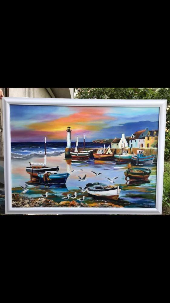Martılar ve deniz, Orijinal Tablolar, , kanvas tablo, canvas print sales