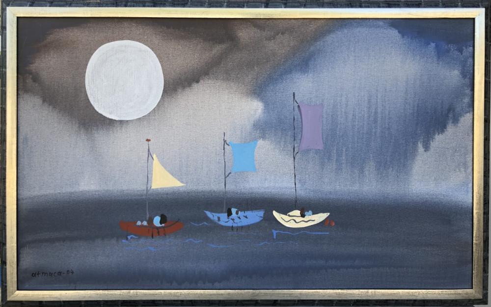 Sailboat, Original Paintings,
