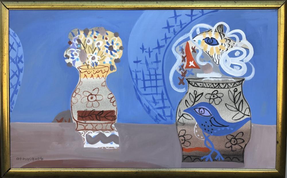 Two Vases, Original Paintings,