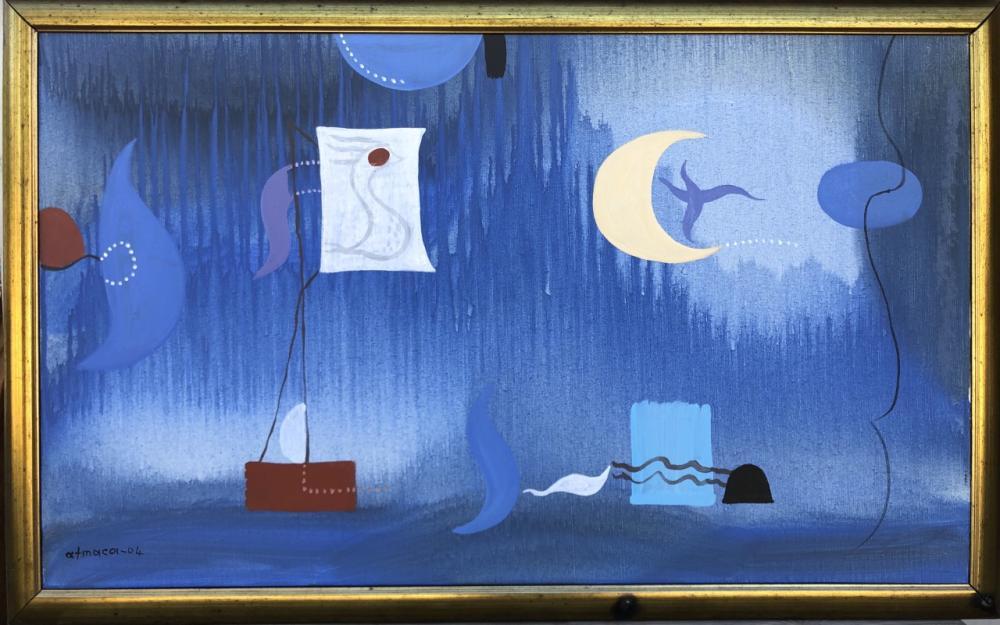 Gece ve Deniz, Ali Atmaca, Orijinal Tablolar, , kanvas tablo, canvas print sales