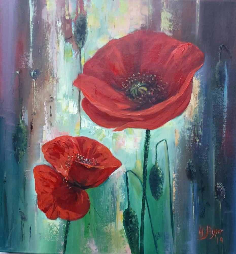 Poppy, Original Paintings, , kanvas tablo, canvas print sales