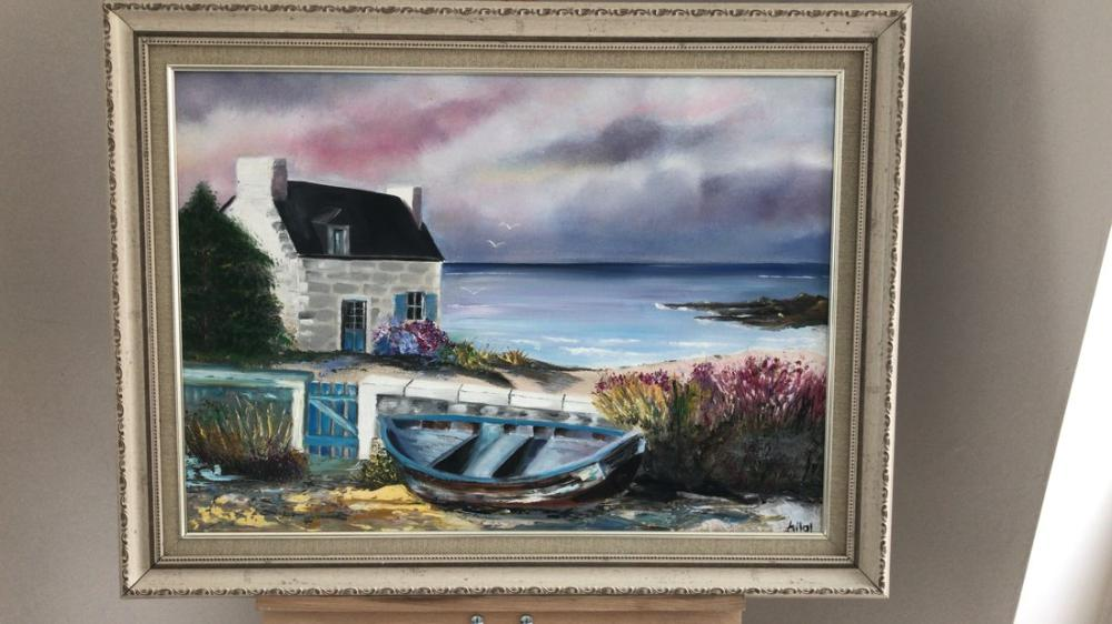 The House At The Coast, Reproduction Paintings, , kanvas tablo, canvas print sales