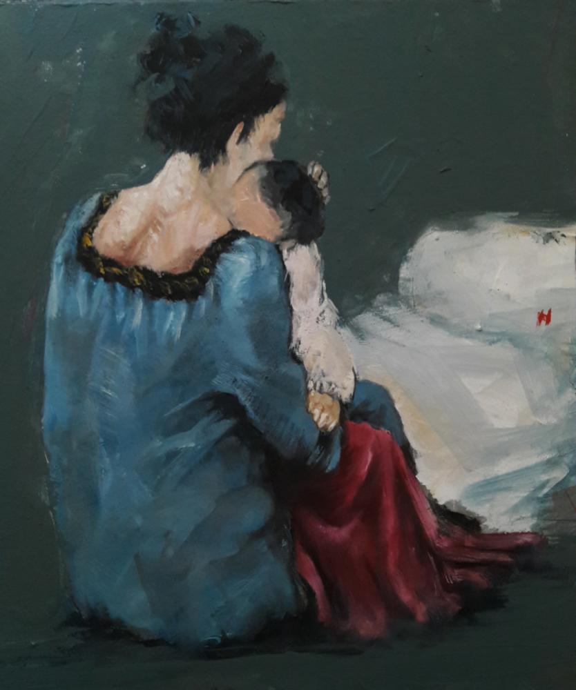 Anne ve Çocuk, Orijinal Tablo,