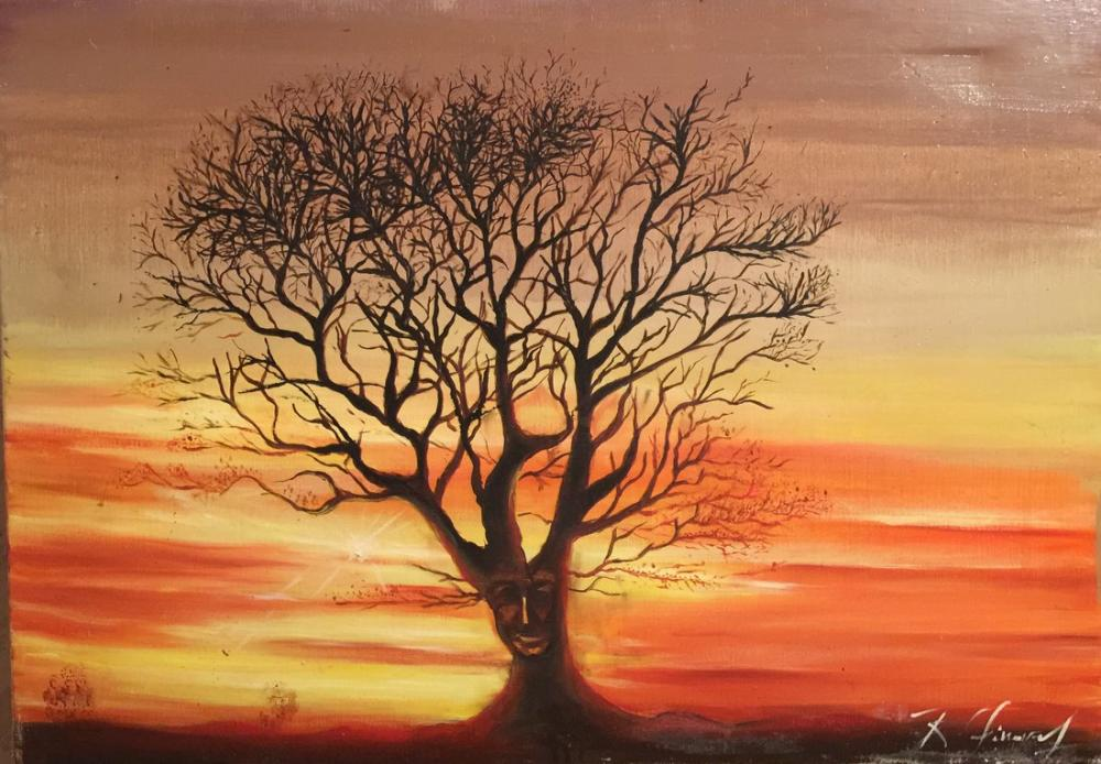 Loneliness in the Evening, Original Paintings,