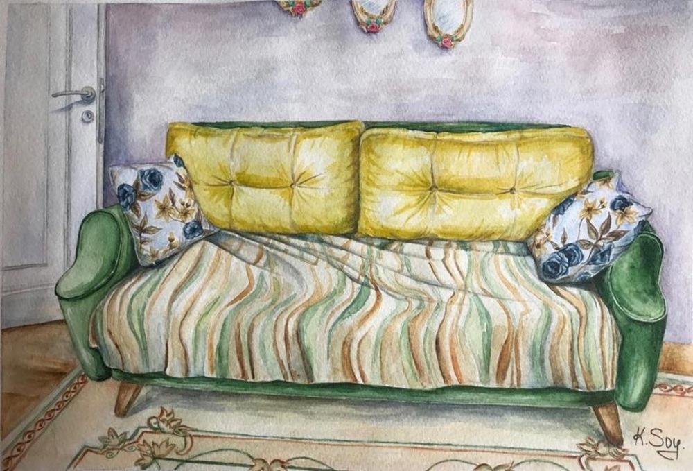 Relaxing Room, Original Paintings, , kanvas tablo, canvas print sales