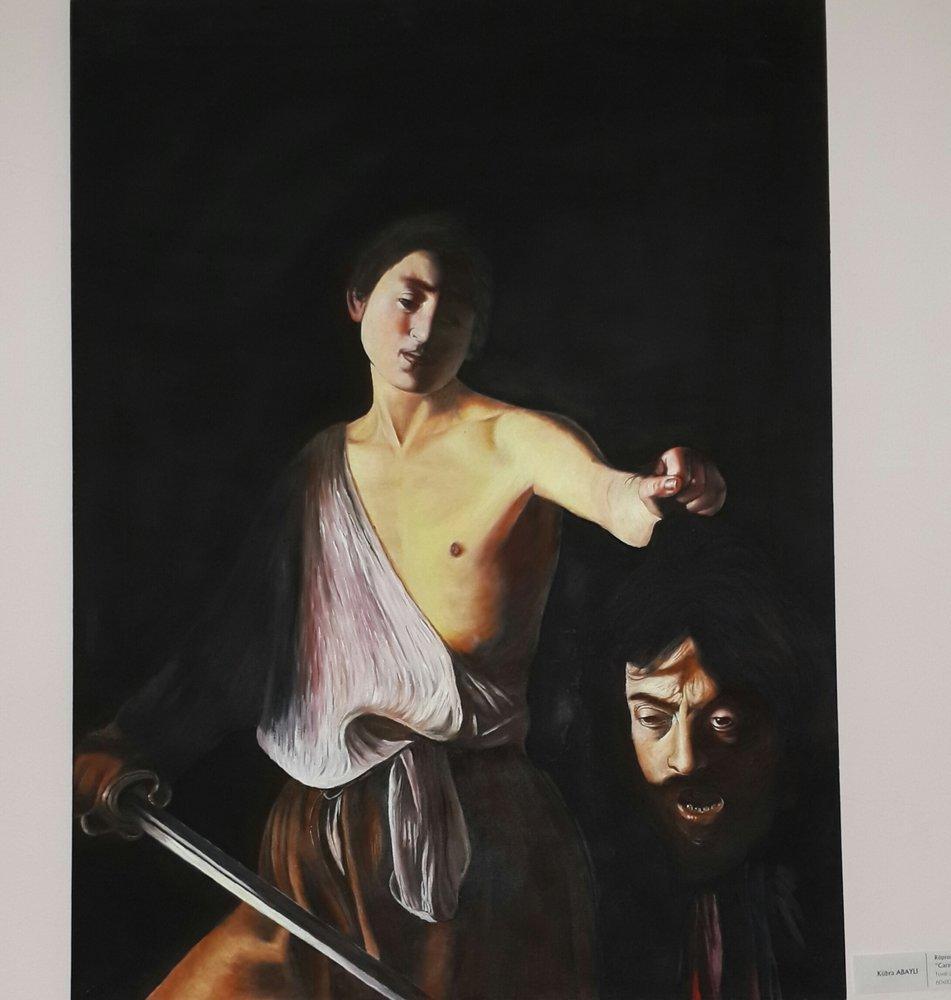 Caravaggio - David ve Goliath ın kesik başı, Reproduction Paintings, , kanvas tablo, canvas print sales