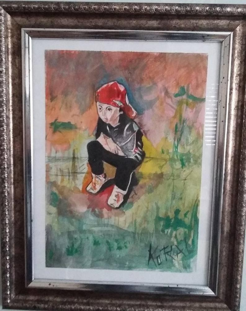 Aden child stance, Original Paintings,
