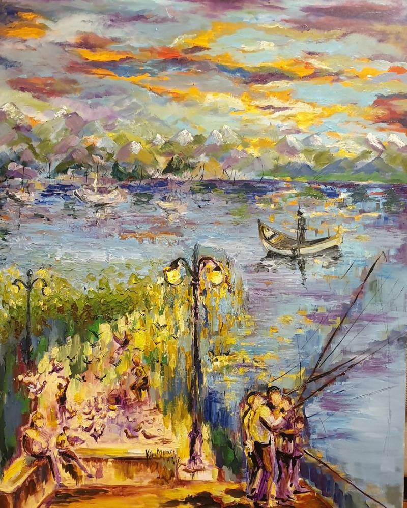 Alaca Waiting, Original Paintings, , kanvas tablo, canvas print sales