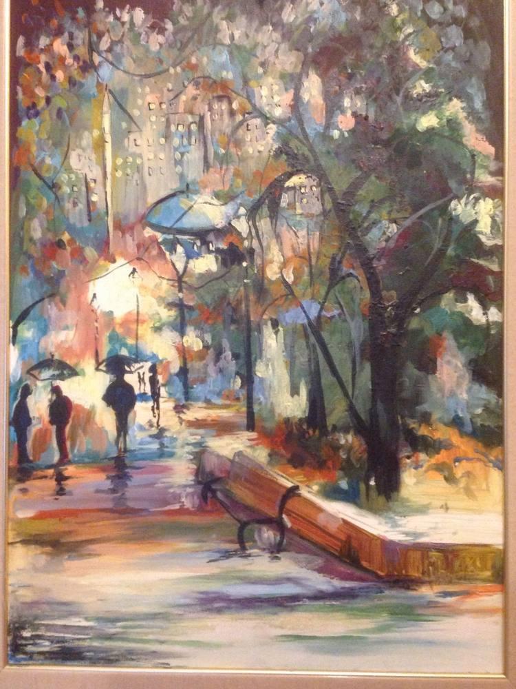 Night and winter, Original Paintings, , kanvas tablo, canvas print sales