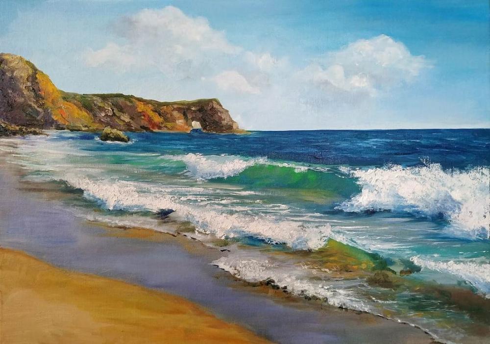 Deniz dalga, Reprodüksiyon Tablo, , kanvas tablo, canvas print sales