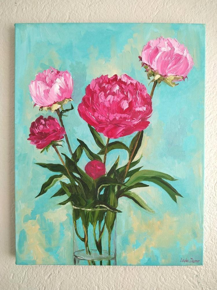 Şakayık Çiçeği, Orijinal Tablolar, , kanvas tablo, canvas print sales