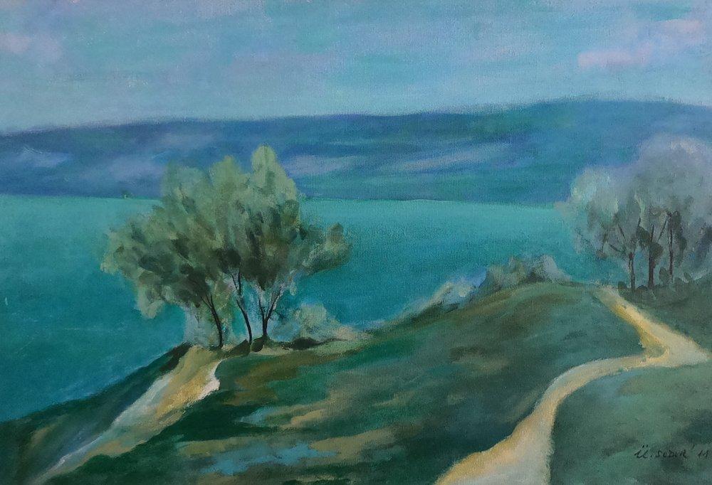 Turquoise Tree, Original Paintings, , kanvas tablo, canvas print sales