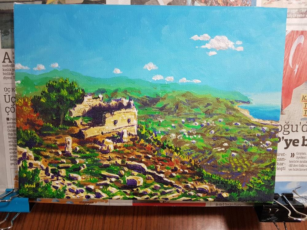 Ruins, Original Paintings, , kanvas tablo, canvas print sales