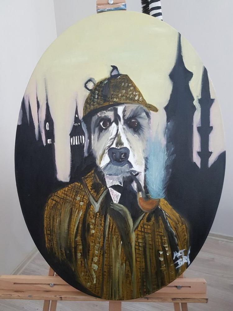 Entel Bey/ Mr. Dog, Orijinal Tablolar, , kanvas tablo, canvas print sales