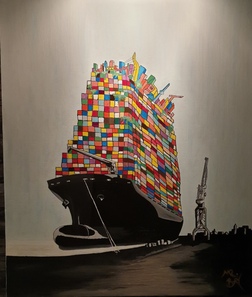 Dünyanı Taşıyan Gemi/ The Vessel Carrying to World, Orijinal Tablo,