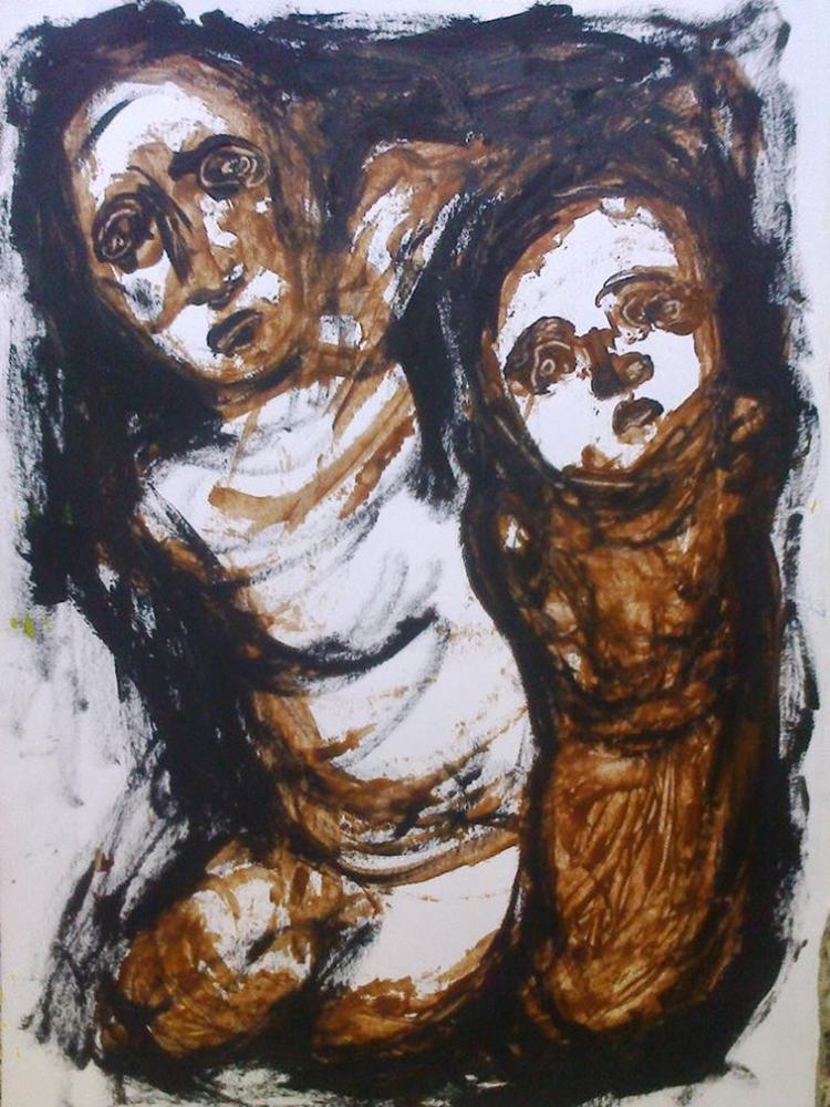 Baba ve Oğul, Orijinal Tablolar, Müge Olçum, kanvas tablo, canvas print sales