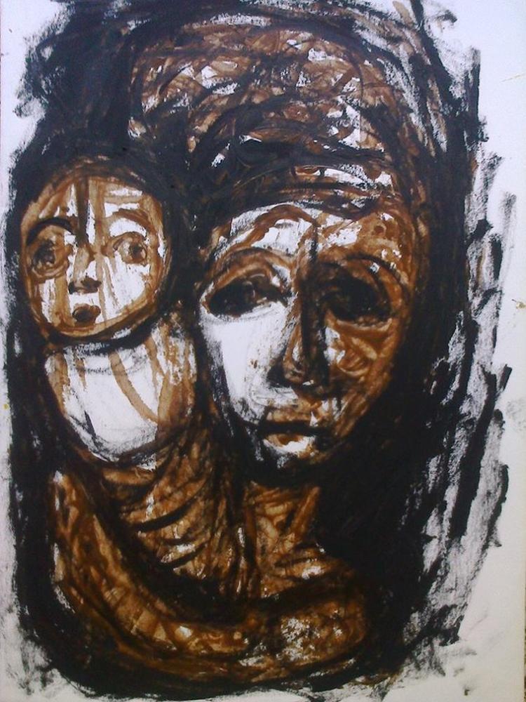 Anne ve Oğlu, Orijinal Tablo,