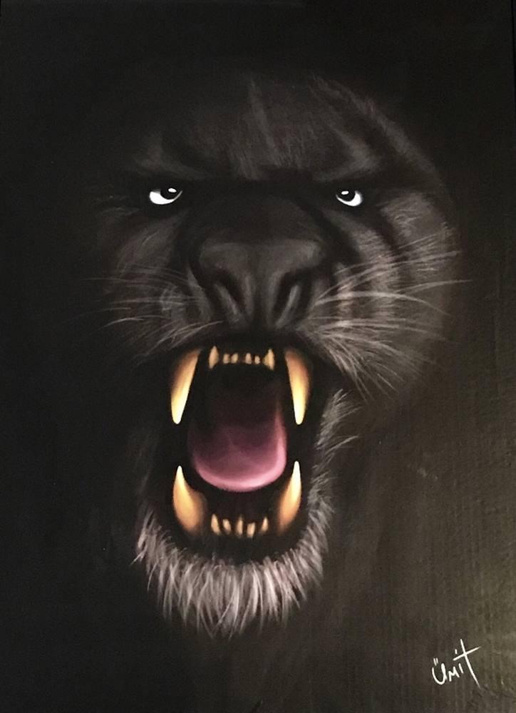 Black Panther, Original Paintings, , kanvas tablo, canvas print sales
