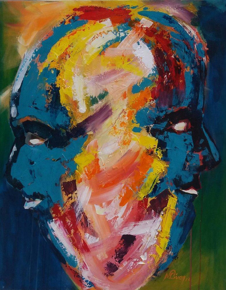 Double Faces, Original Paintings, , kanvas tablo, canvas print sales