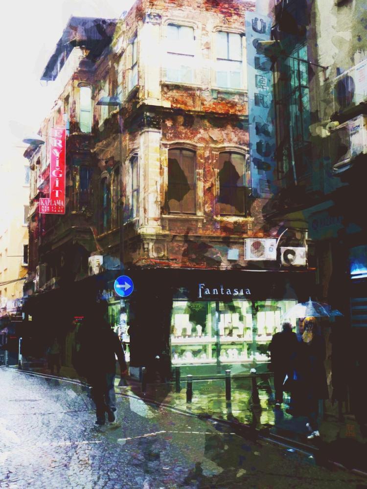 After Rain. Istanbul, Digital, , kanvas tablo, canvas print sales