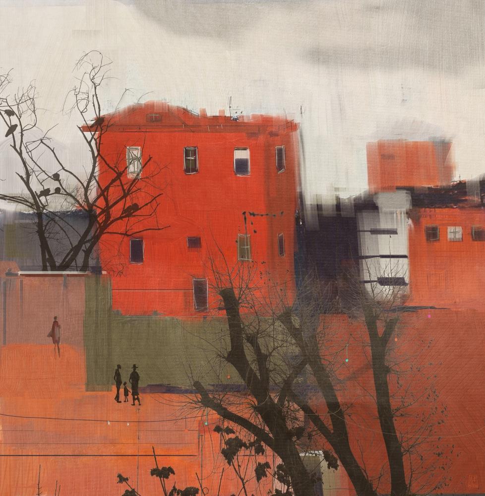Red House, Dijital, , kanvas tablo, canvas print sales