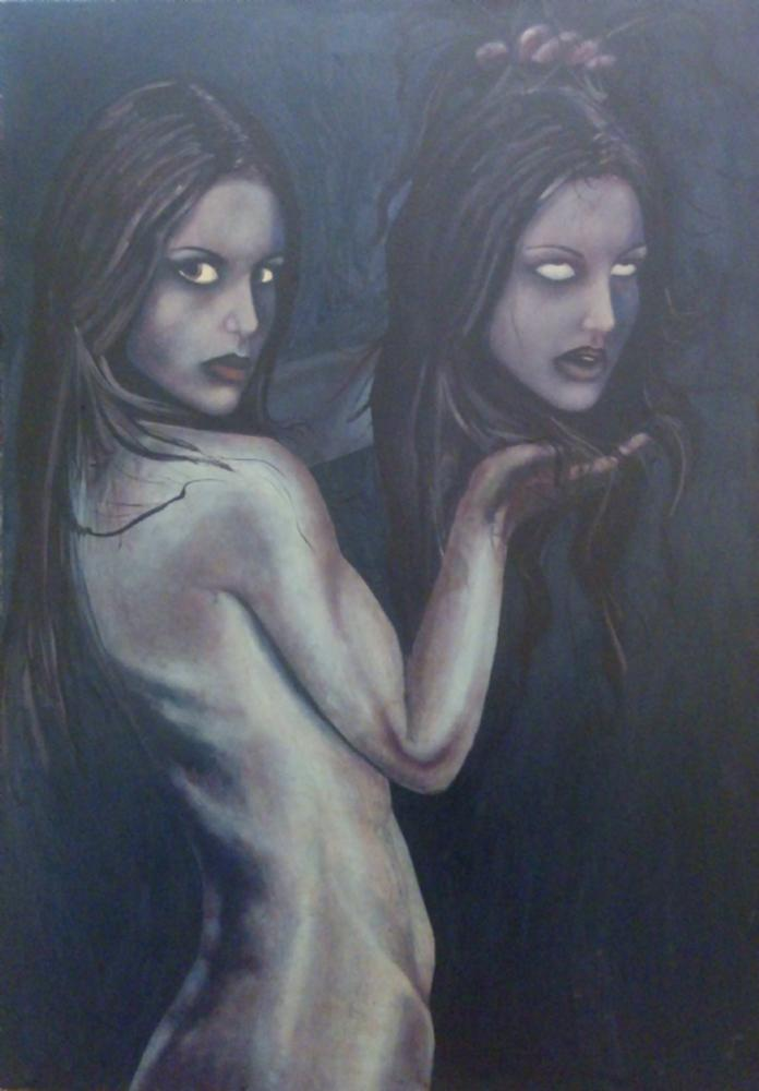 Female, paranoia, Original Paintings, , kanvas tablo, canvas print sales